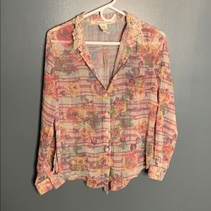 American Rag patterned button down
